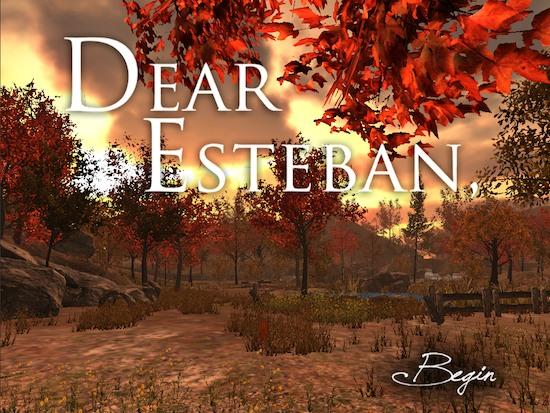 Dear Esteban